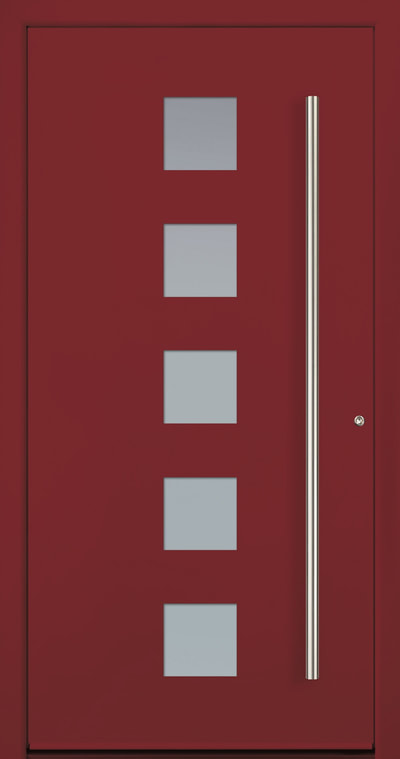 Modern red entry door