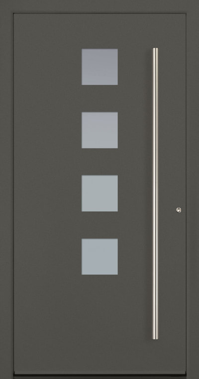 Model 2 Modern entry door made out of aluminum
