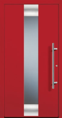 Powder coated front door red